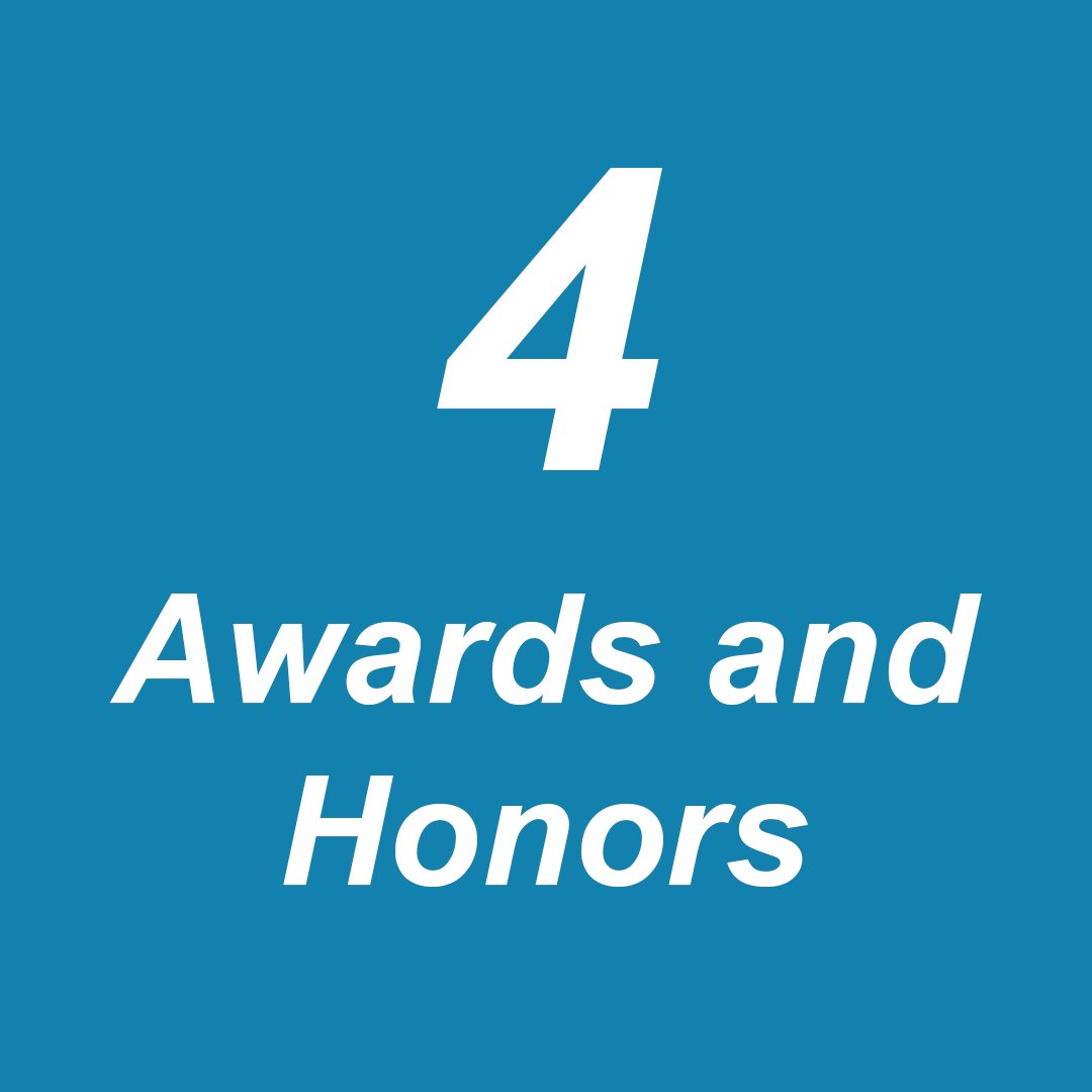 Awards and honors 1-2